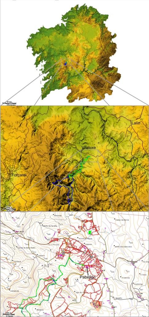 Localización Vilatuxe